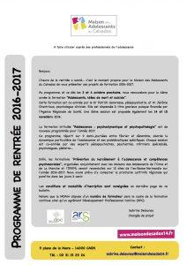 Programme de formation 2016-2017