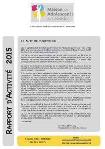 Rapport d'activité 2015 : version simplifiée et version intégrale à télécharger