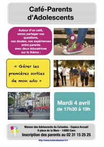Café parents de la Maison des Adolescents : mardi 4 avril 2017 (17h30-19h)