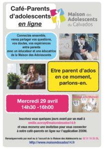Des cafés parents en ligne à la Maison des Adolescents 14